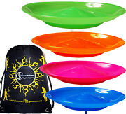 Set Of 4 Spinning Plates Sticks And Flames N Games Bag