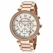 New Authentic Parker Chronograph Rose Gold-tone Ladies Watch Mk5491