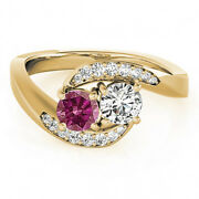 1.10 Carat Pink And White Vs2-si1 2 Diamond Solitaire Engagement Ring 14k Yg
