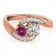 1.10 Carat Pink And White Vs2-si1 2 Diamond Solitaire Engagement Ring 14k Rg