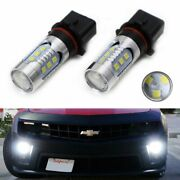 White 15-smd High Power P13w Led Daytime Running Lights Bulbs For Chevy Camaro..