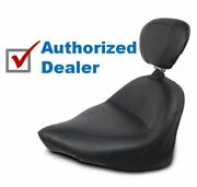 Mustang Vintage Smooth Solo Seat Driver Backrest Saddle Victory Motorcycle 03-17