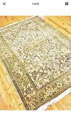 Antique Cr1900-1939s 5and039x6and0398 Gold-ivory Colors Wool Pile Ushak Rug