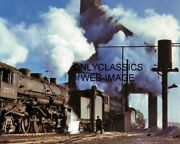 1942 Railroad Train Steam Locomotive Ash Pit Roundhouse 8x10 Photo Chicago And Nw
