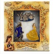 Disney Store Beauty And The Beast Live Action Film Limited Edition Pin Set Belle
