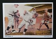 Al Lopez Traps Two Cubs- Reproduction Of 1936 Pastel Series Baseball Card