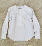 Collection Thomas Mason For Jcrew Ruffle-front Popover 000 F5840 198