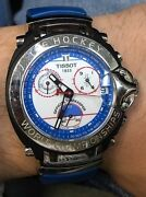 Men's Tissot T-race Ice-t Watch 1853 Ice Hockey World Championships Official