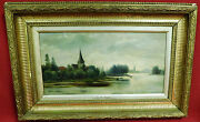 Alfred De Breanski Sr. Original Painting Oil On Canvas Signed On The Themes