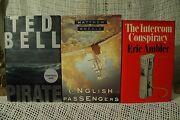 Lot 3 Old Books Ted Bell Pirate The Intercom Conspiracy English Passengers