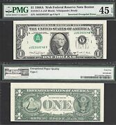 1 1988-a Frn Inverted Overprint=type I=web Note 8/8=pmg Choice Ext Fine 45 Epq
