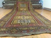 Late 1900s Antique Wool Pile Armenian Runner Rug 4and0399andtimes12and039