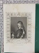 1837 Dated Antique Print James Stanley Earl Of Derby