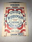 Vintage Antique Union Workman Chewing Tobacco Advertising Paper Pouch 7h