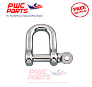 Seneca Marine Stainless Steel 316 Straight D Shackle W Pin Boat Anchor 7/8