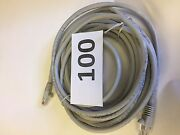 100 -25 Ft Molded Booted Cat5e Network Cable Ethernet Gray Gold Plated Rj45 Utp