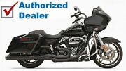Bassani Black Road Rage 2 Into 1 Exhaust Pipe 4 Straight Can 17+ Harley Touring