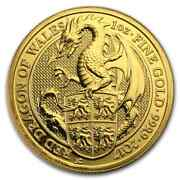 2017 Great Britain 1 Oz Gold Queenand039s Beasts The Dragon - Sku 117682
