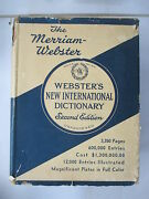Webster's New International Dictionary Of The English Language, 2nd Edition