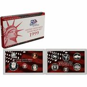 1999-s 90 Silver Proof Set United States Mint Original Government Packaging Box