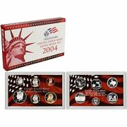 2004-s 90 Silver Proof Set United States Mint Original Government Packaging Box
