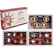 2008-s 90 Silver Proof Set United States Mint Original Government Packaging Box