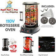 Kebab Machine Rotisserie Oven Electric Grill Bbq Vertical Cooker Equipment 1500w