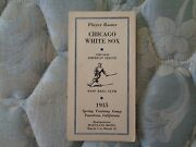 1935 Chicago White Sox Media Guide Press Book Spring Training Player Roster Ad