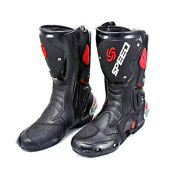 Menand039s Engineer Motocross Leather Long Racing Boots Motorcycle Footwear Shoes