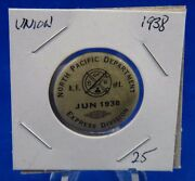 1938 North Pacific Department Express Div. June Union Pin Pinback Button 1