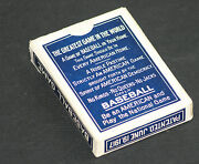 1917 T. Norpoth Antique Parlor Baseball Card Game, Total Of 51 Cards, Ex Cond.