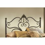 Hillsdale Newton King Spindle Headboard With Rails In Antique Brown