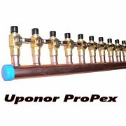 1 Copper Manifold 5/8 Pex Uponor Propex With And Without Ball Valve 2-12 Loop
