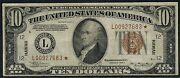 Fr2303 10 Star Note 1934-a Wwii Emergency Issue Hawaii Vf -- Rare -- Wlm3183