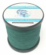 Reaction Tackle High Performance Braided Fishing Line / Braid - Moss Green