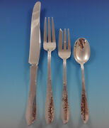 Ivy By Old Newbury Crafters Onc Sterling Silver Dinner Size Place Settings 4pc