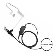 1-wire Clear Tube Fiber Cord Headset Microphone For Icom Multi-pin 2-way Radios