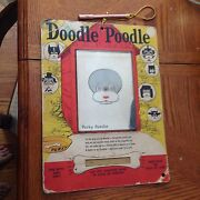 Vintage 1960's Doodle Poodle Magnet Drawing Toy Perky Huge 14 X 10.5 Inches Rare