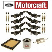 06-08 Mountaineer 4.6l V8 Motorcraft 8+coil Dg511 8+ Sp515/sp546 Oil,air,gas New