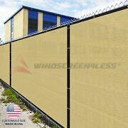 Customize 8and039ft Privacy Screen Fence Beige Commercial Windscreen Shade Cover1-160