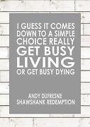 Shawshank Redemption - Andy Dufresne - I Guess It Comes Down Motivational Quote