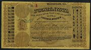 United States Postal Note 1883 Serial 1 Waukecan Ill. -- Xf -- Wlm3334
