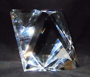 Baccarat Crystal Artist Signed, Le 500 Art Glass Heavy Sculpture Paperweight, 5