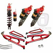 Elka Legacy Front And Rear Shocks Jd Long Travel A-arms Yamaha Raptor 660