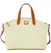 Dooney And Bourke Mint Tapestry Satchel Purse/shoulder Travel Everyday Bag Nwt