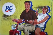 Rc Cola Couple Metal Sign Discontinued