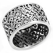 Sterling Silver Womans Heart Polished Fashion Ring Wholesale Band Sizes 4-14