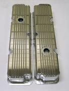 Ford Fe Fabricated Tall Finned Aluminum Valve Covers 1/4 Billet Rail 360 390 428
