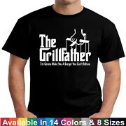 The Grillfather Funny Fathers Day Bbq Barbecue Grill Dad Grandpa Tee T Shirt
