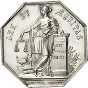 [401242] France Notary Token Au55-58 Silver 34 Lerouge 161 18.50